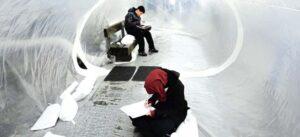Ideenwerkstatt auf dem Albert-Schweitzer-Platz u.a. mit temporäre Räume von Plastique Fantastique, 2012. Foto: E. Hertzsch und A.Page
